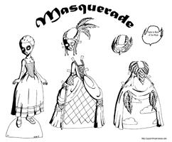 rocco masquerade paper doll