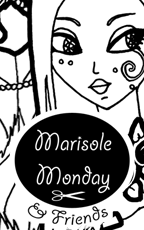Marisole Monday and Friends Logo and Link to a printable fantasy fairy coloring page