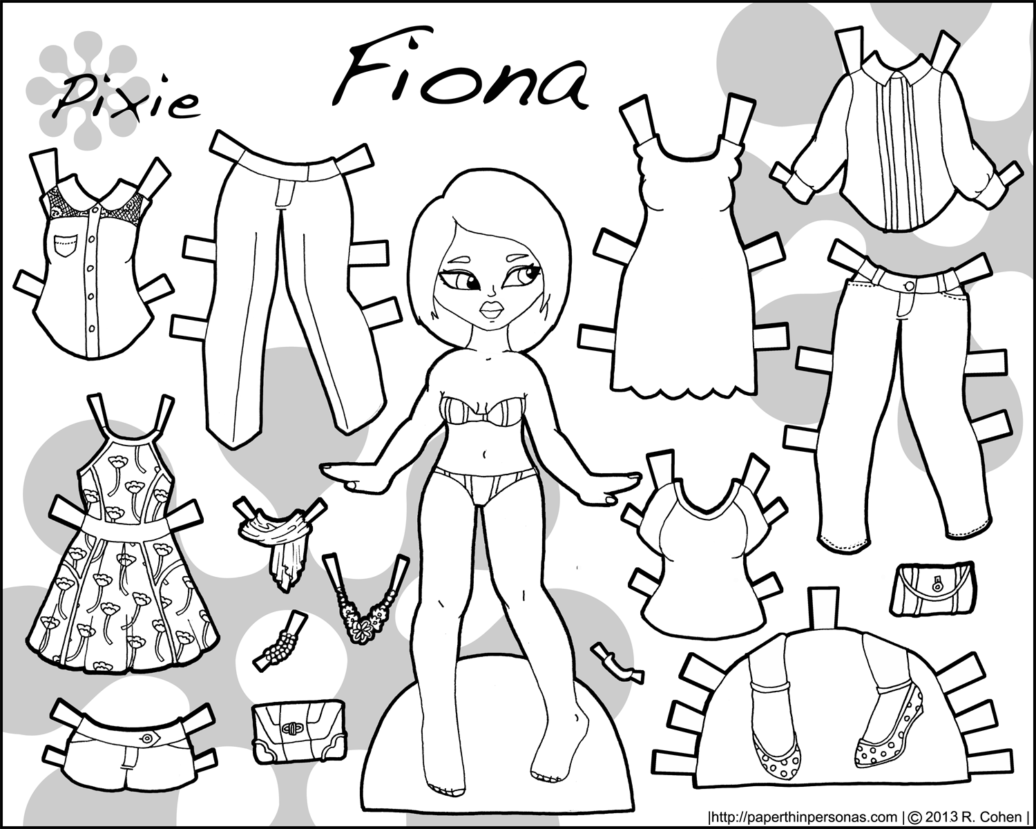 full color paper doll to print
