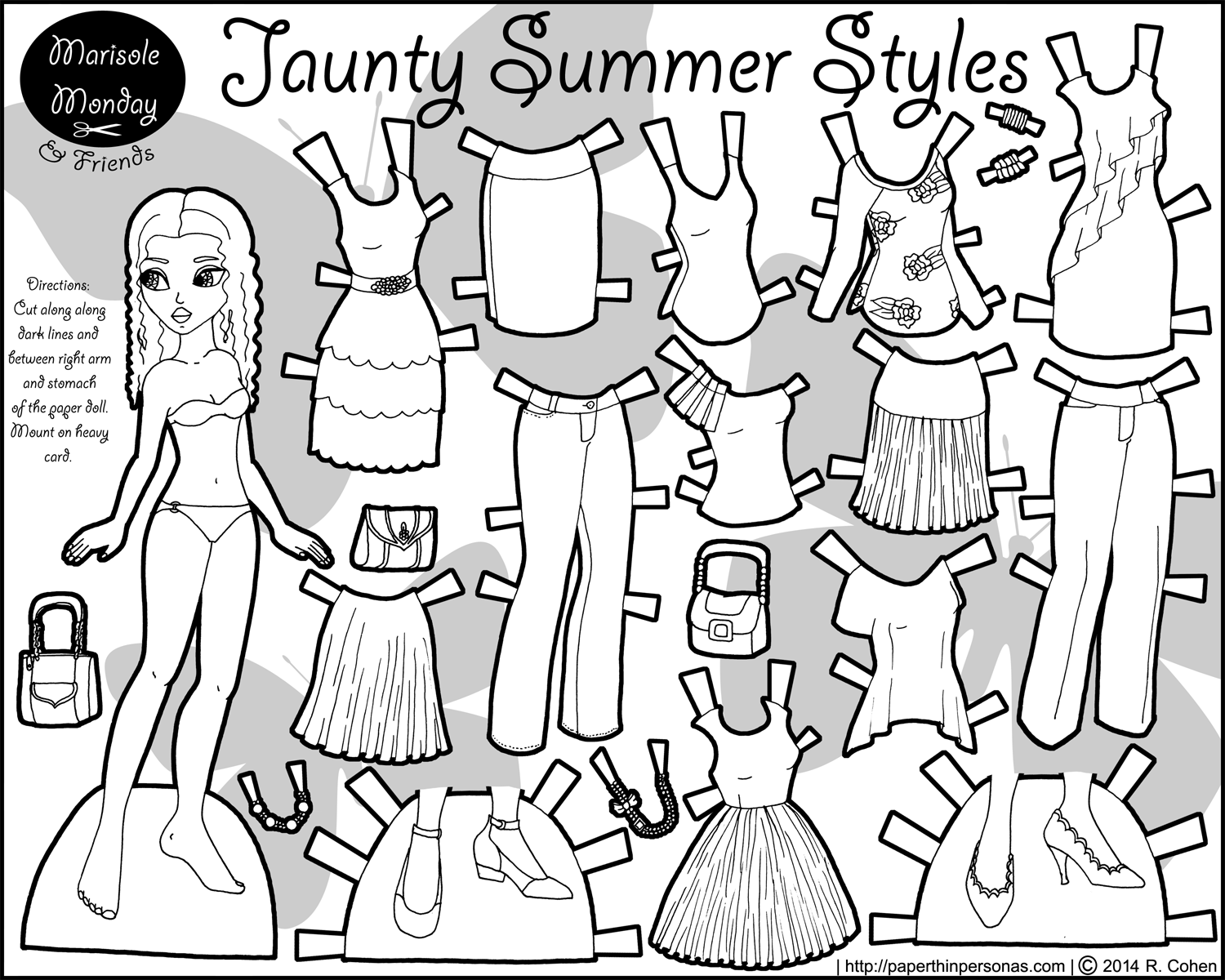 This is a photo of Luscious Printable Paper Dolls