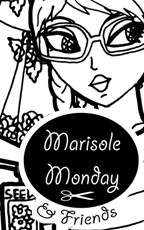 Marisole Monday and Friends Logo and Link to free printable Marisole Monday paper doll