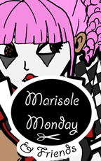 Marisole Monday and Friends Logo and Link to free printable Marisole Monday paper doll based on circuses