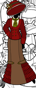 link to a set of steampunk paper doll clothes