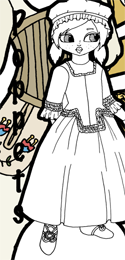 18th century historical dress for the Poppet paper dolls
