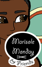 Marisole Monday and Friends Logo and Link to a printable paper doll of a young black man with casual clothing