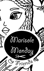 Marisole Monday and Friends Logo and Link to a printable fantasy elf paper doll with African-American features and four dresses