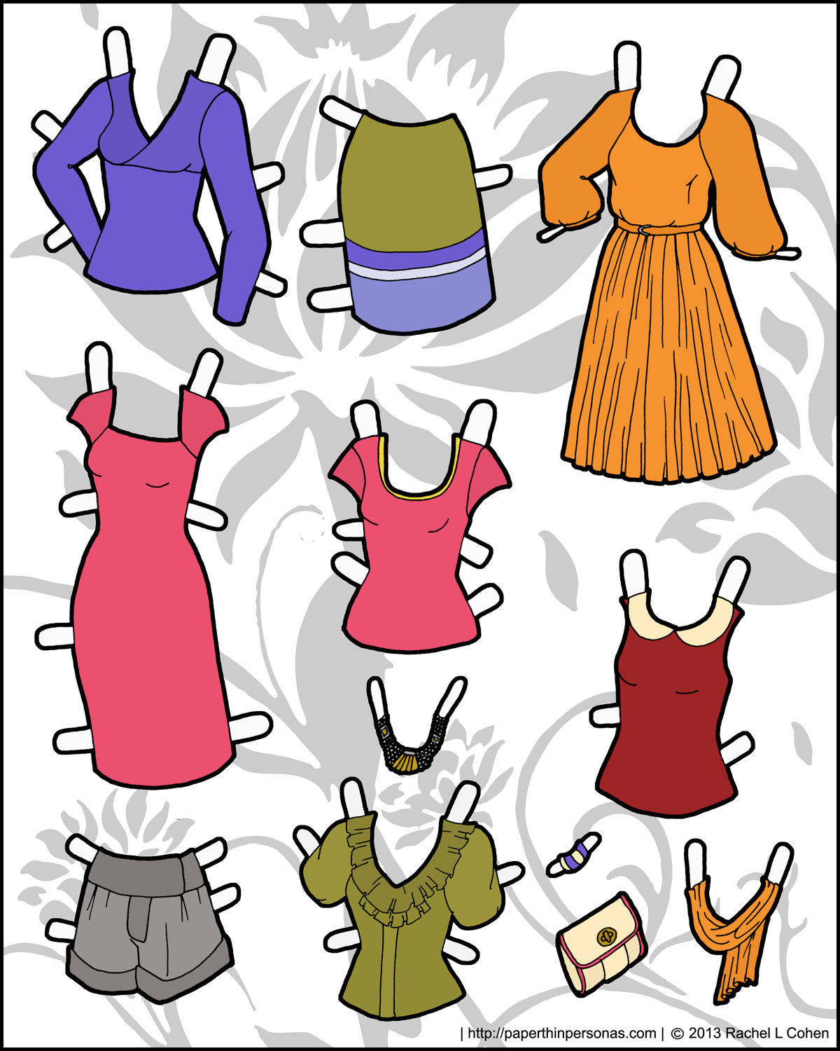 It's just a graphic of Versatile Paper Doll Clothing Printables
