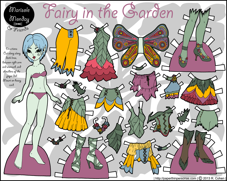 Fairy+Paper+Dolls+Printable Fairy Tale Princesses Paper Dolls (005296 ...