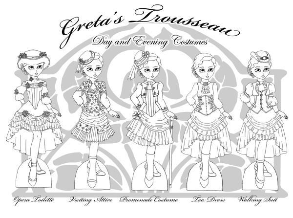 Thumbnail of the printable paper doll clothes