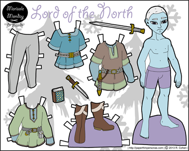 full color printable paper doll