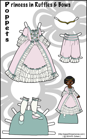 Full color Poppet Paper Doll clothes
