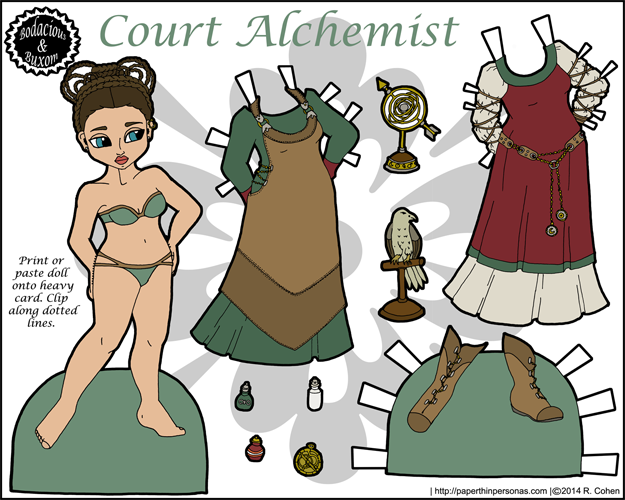 Full color Popper Paper Doll
