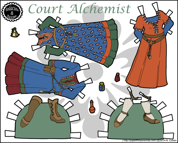 Court Alchemist wardrobe in full color