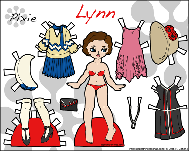 Link to Lynn, a printable historical paper doll with dresses from the 1920s in color