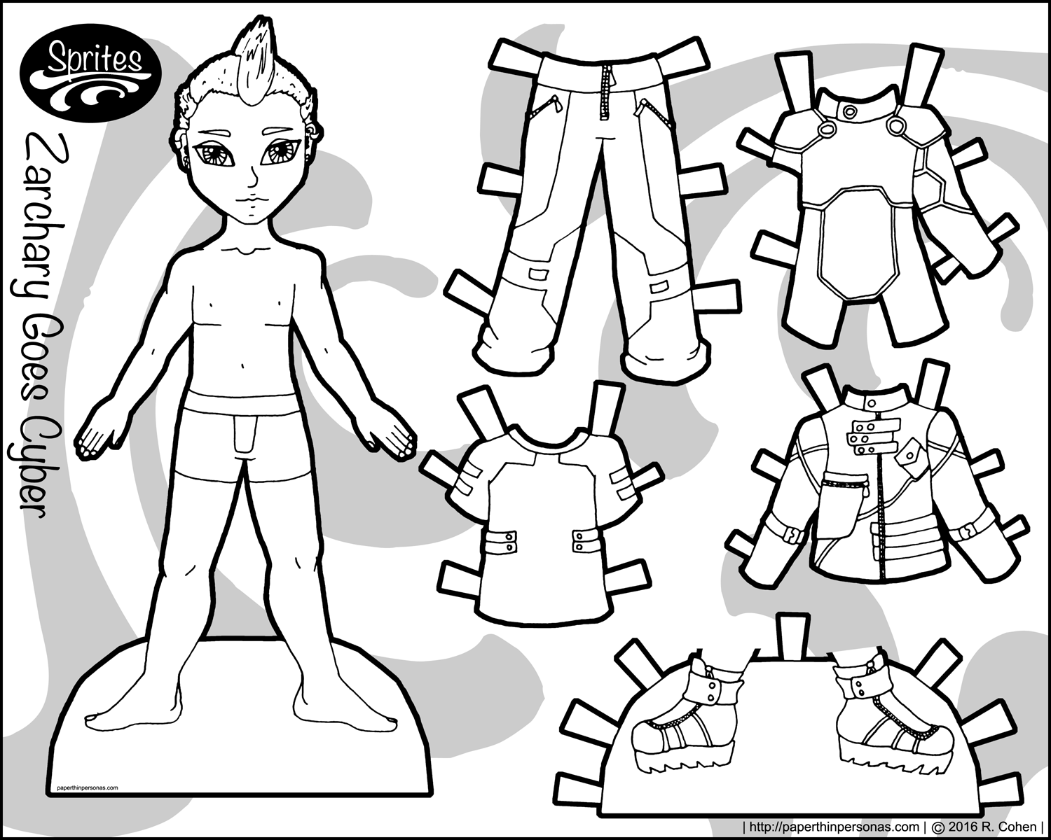 Hilaire image for paper dolls to printable
