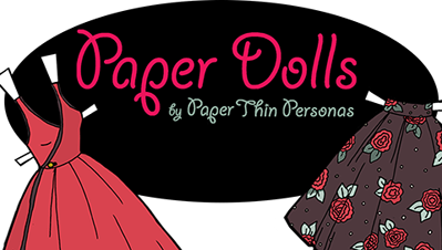 Logo for the HP Printer App of Free Printable Paper Dolls from Paper Thin Personas