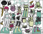 Thumbnail of the Printable Paper Doll Marisole Alien
