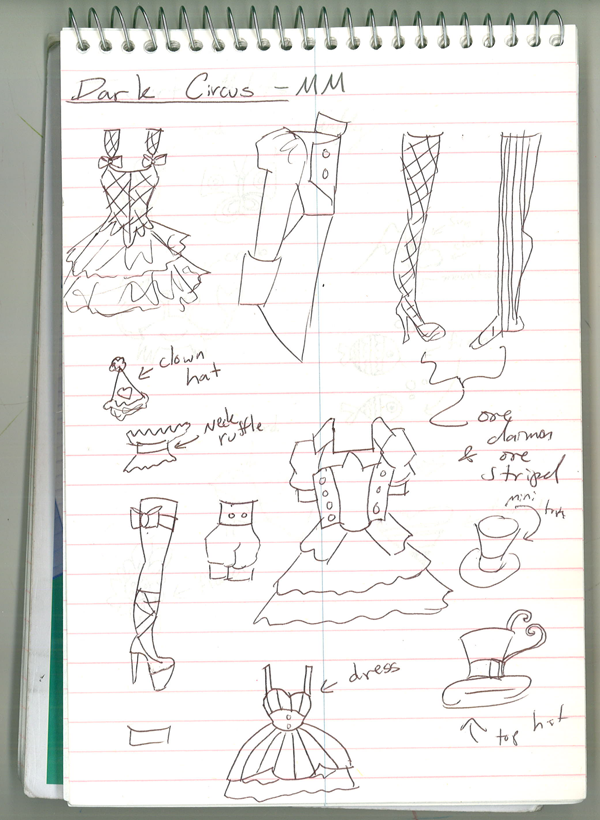 Doodles of Future Paper Doll Sets