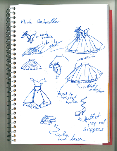 Thumbnail Doodles of Flock Cinderella Designs