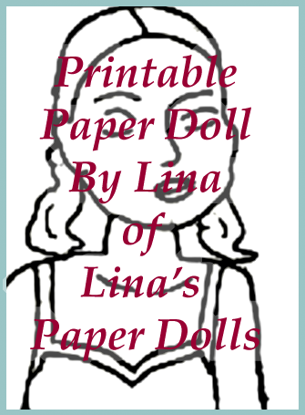 A paper doll page drawn by Irma