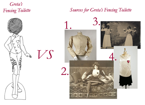 Sources for Greta's Fencing Costume