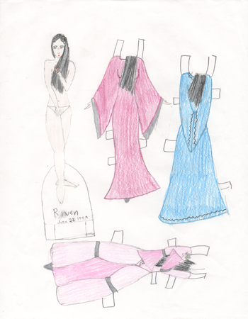 Childhood  Paper Doll Drawing