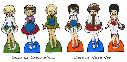 Snow White and Rose Red Examples