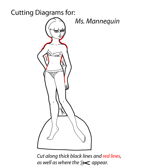 Cutting Diagram for Ms. Mannequin