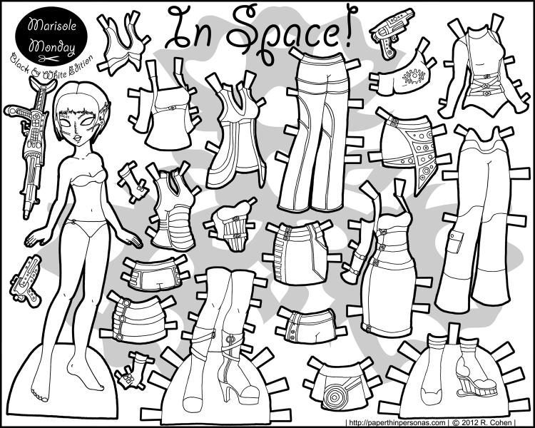 printable-paper-doll-alien-Marisole-BW