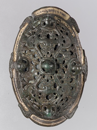 An actual Viking oval brooch from the 10th Century- The Met- Accession Number: 1982.323.1