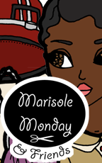 Marisole Monday & Friends Paper Doll Logo. Monica with her 1920s clothing is featured in this post.