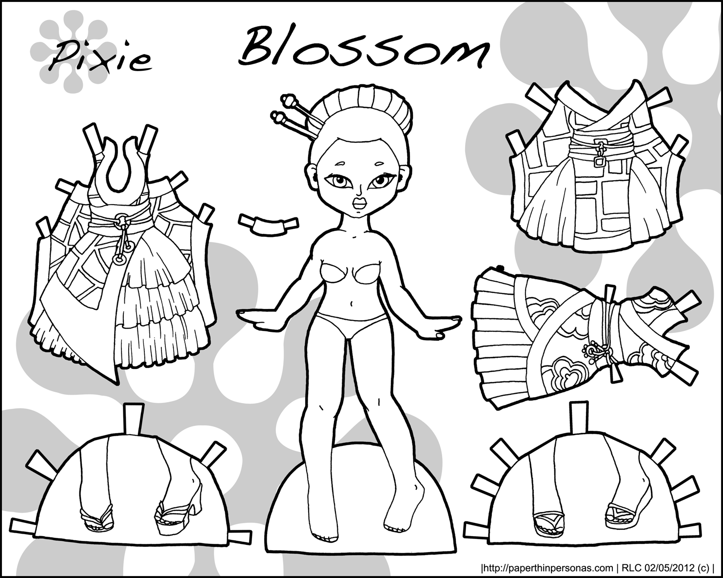 Pixie puck archives page 6 of 10 paper thin personas for Paper doll coloring page