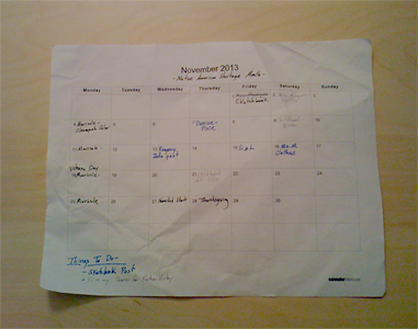 The blog calendar. I never said it was attractive.