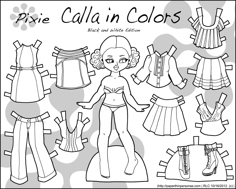 calla in colors black and white u2022 paper thin personas