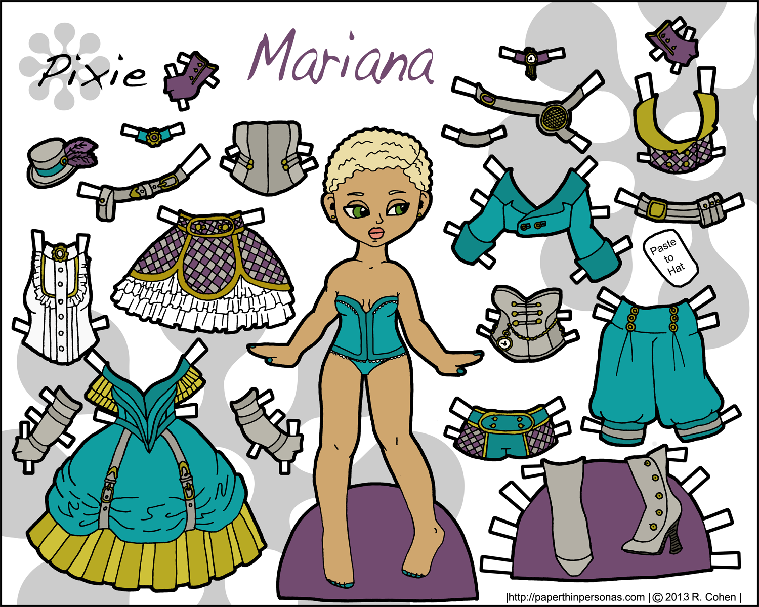 This is a picture of Delicate Printable Paper Dolls