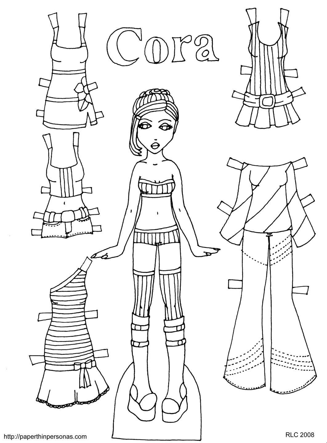 printable paperdolls page links - photo #14