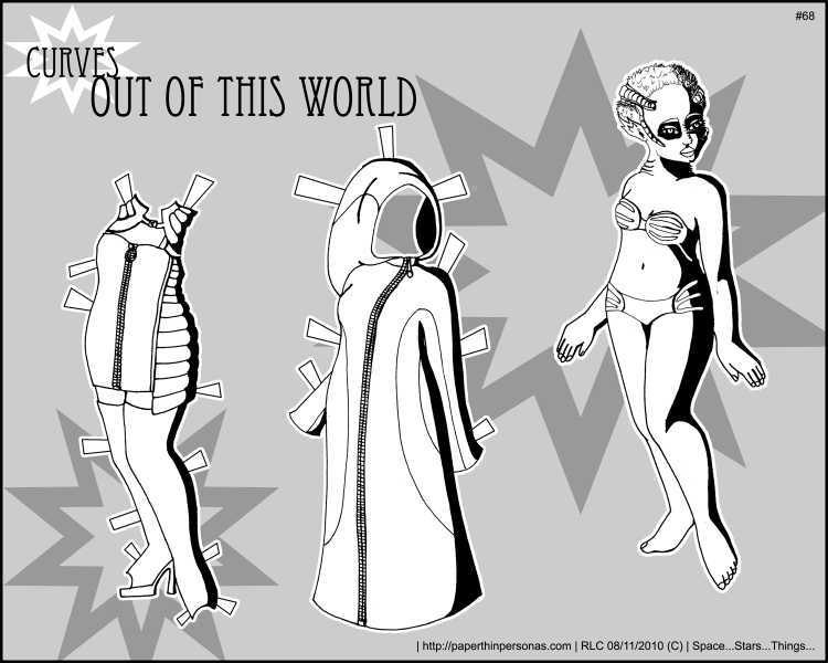 Alien paper doll