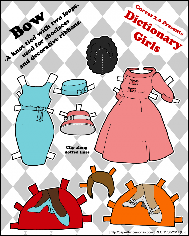 dictionary-girls-paper-doll-bows