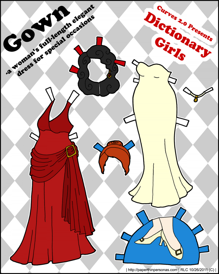 dictionary-girls-paper-dolls-gown