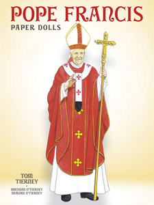 Pope Francis Paper Doll by Tom Tierney