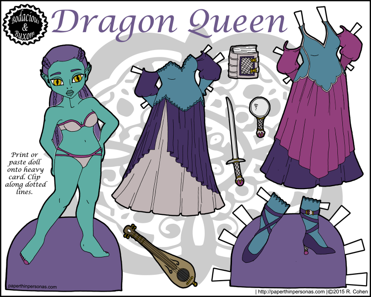 A fantasy paper doll entitled