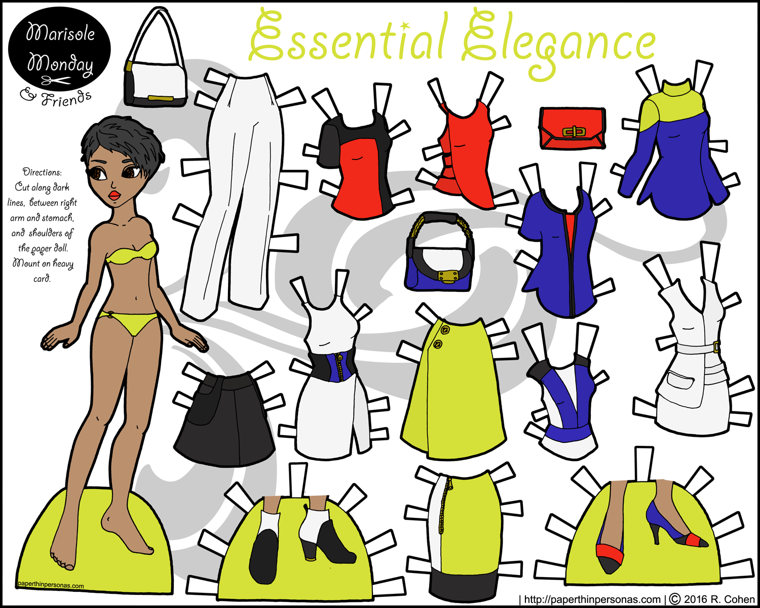 0d0495094dc05 Essential Elegance  A Fashionable Paper Doll With Clothes