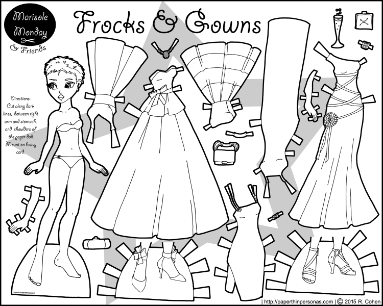 frocks-gowns-black-paper-doll-bw