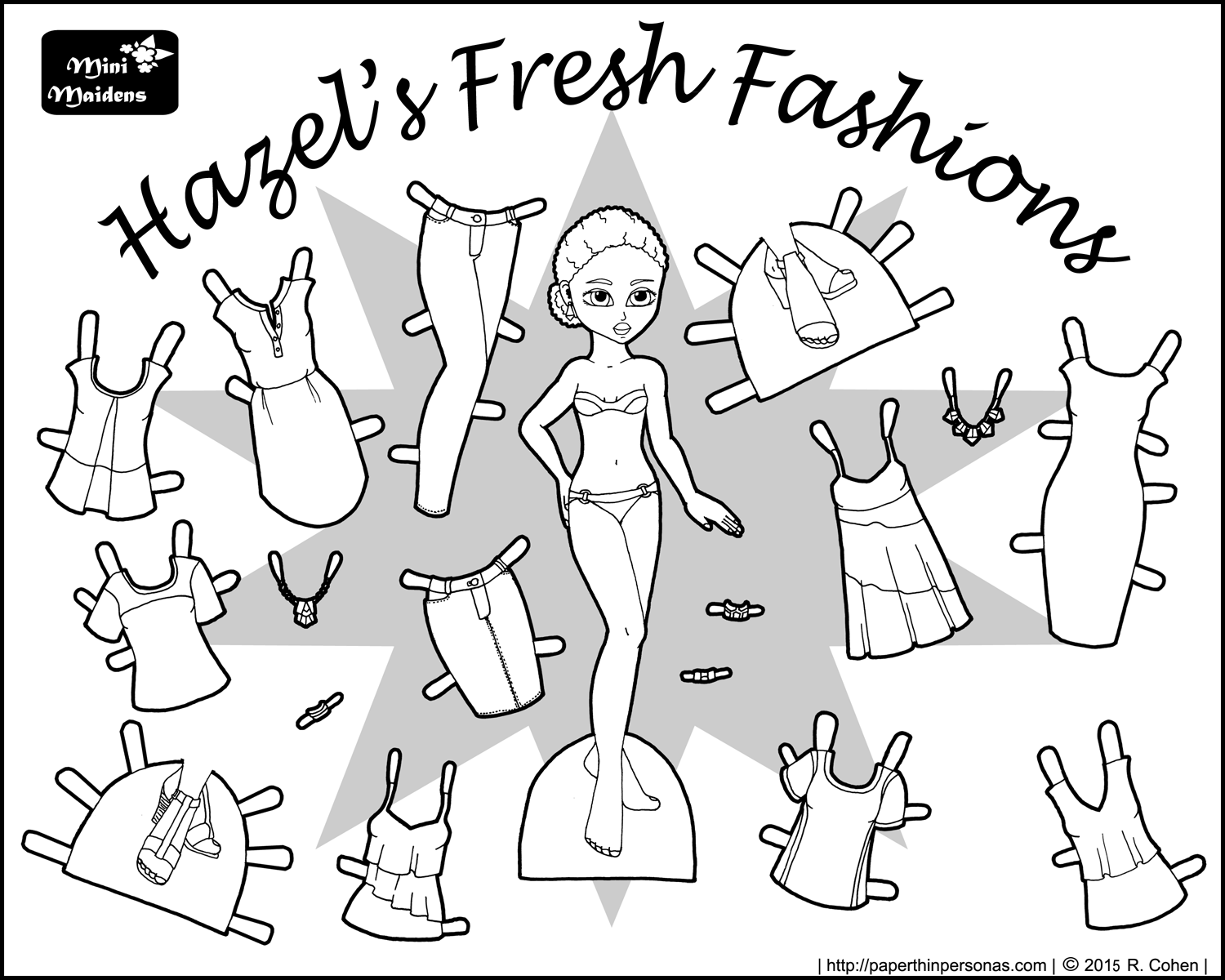 Hazels Fresh Fashions A Paper Doll