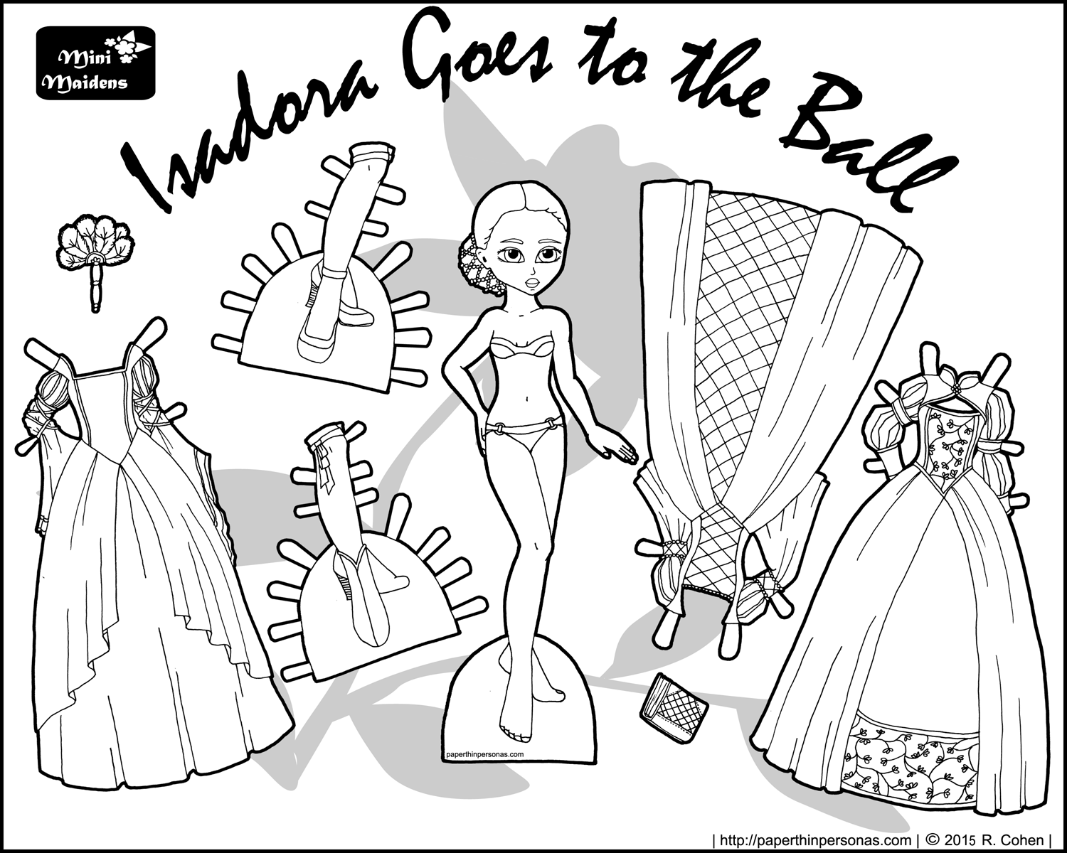 Isadora Goes to the Ball A Fantasy Princess Printable Paper Doll