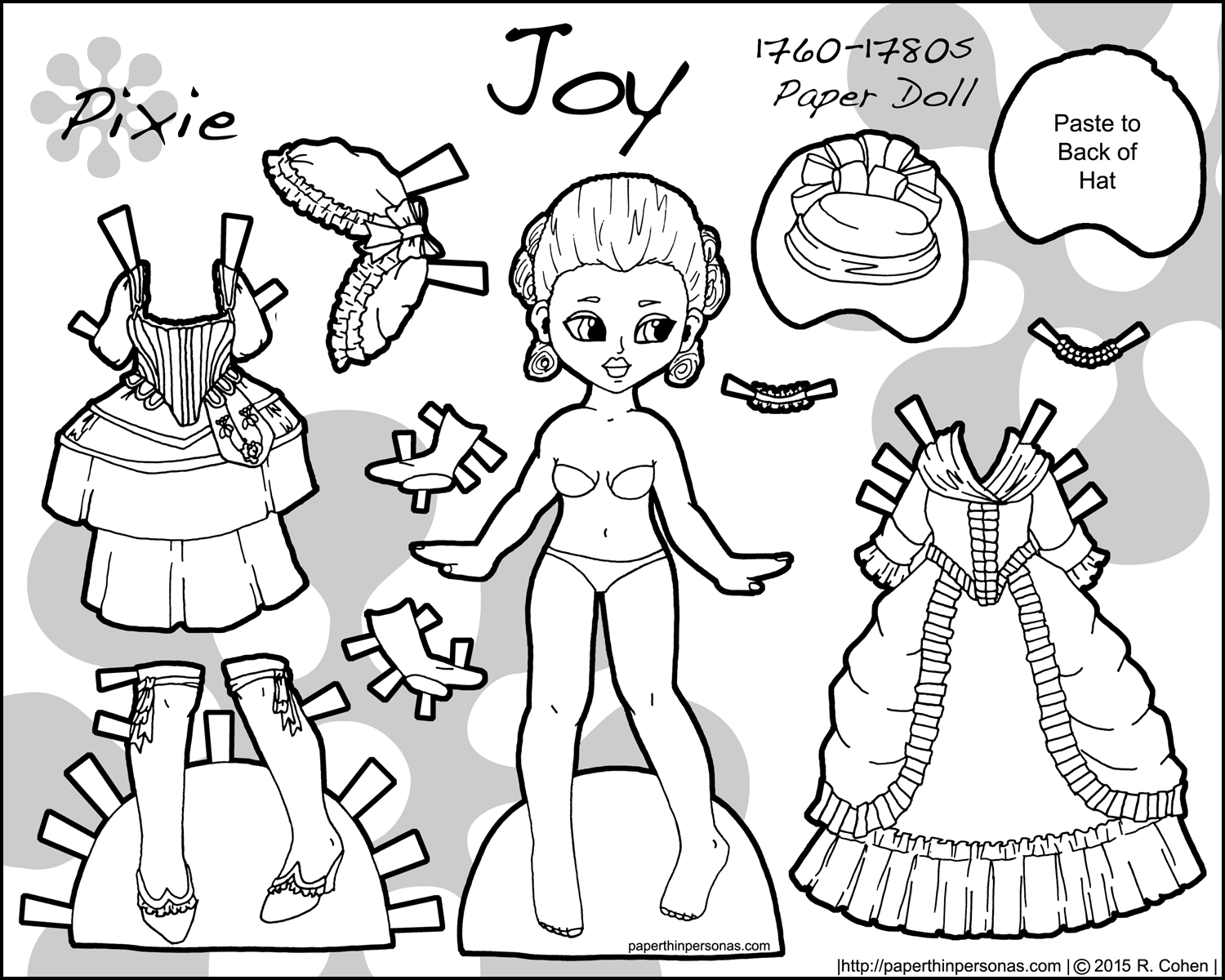 joy an 18th century historical paper doll set u2022 paper thin personas