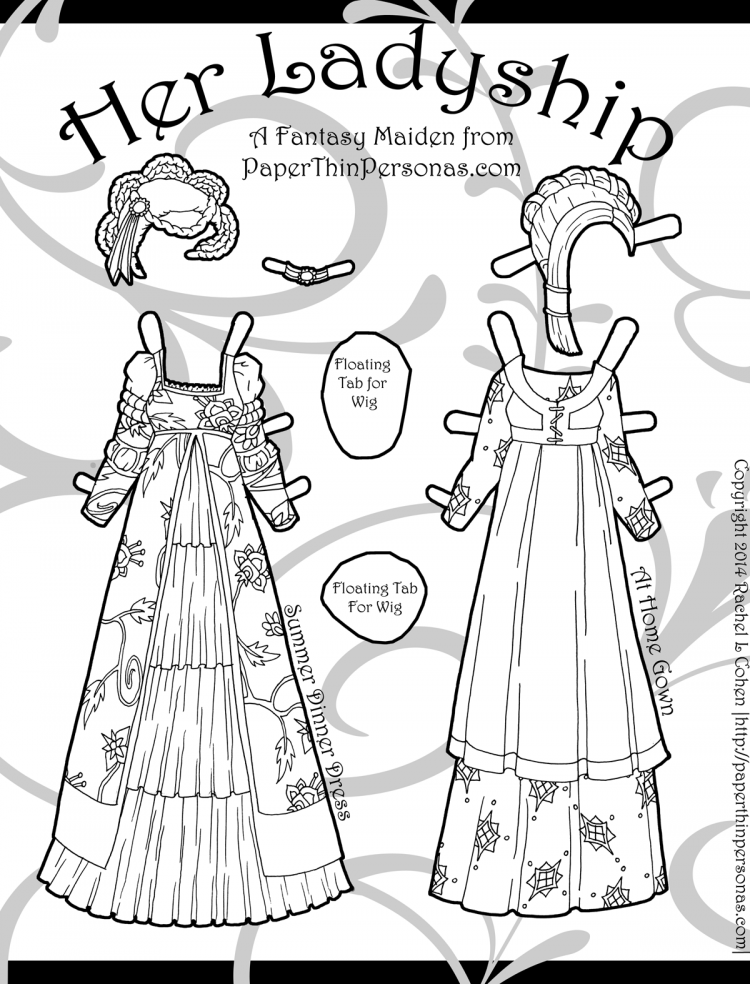 paper doll coloring page - mini series archives paper thin personas