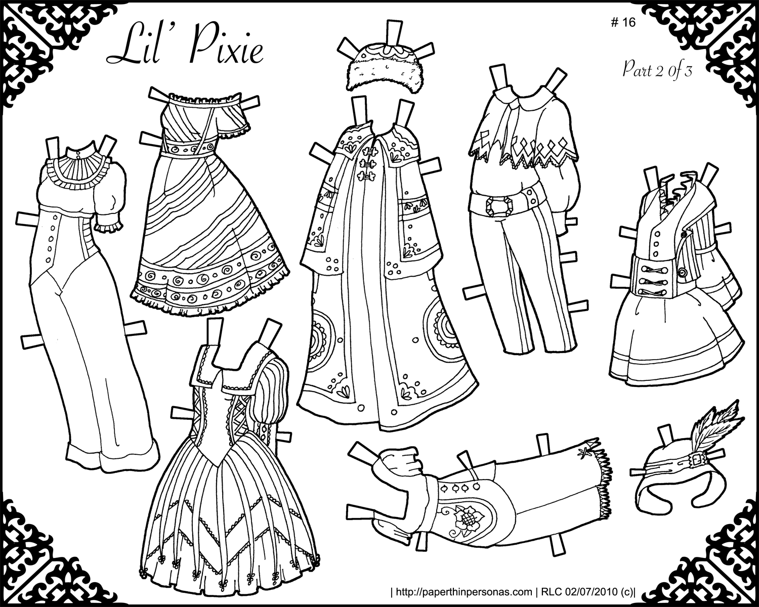 graphic regarding Paper Doll Clothing Printable identified as Small Pixie Printable Paper Doll- The Sequel Paper Slender