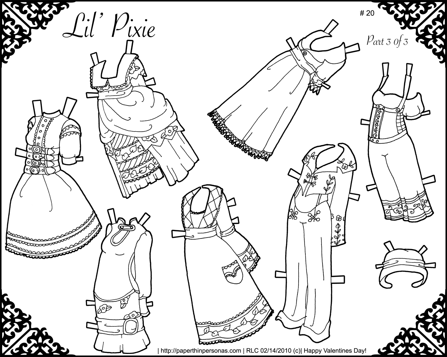printable paperdolls page links - photo #7