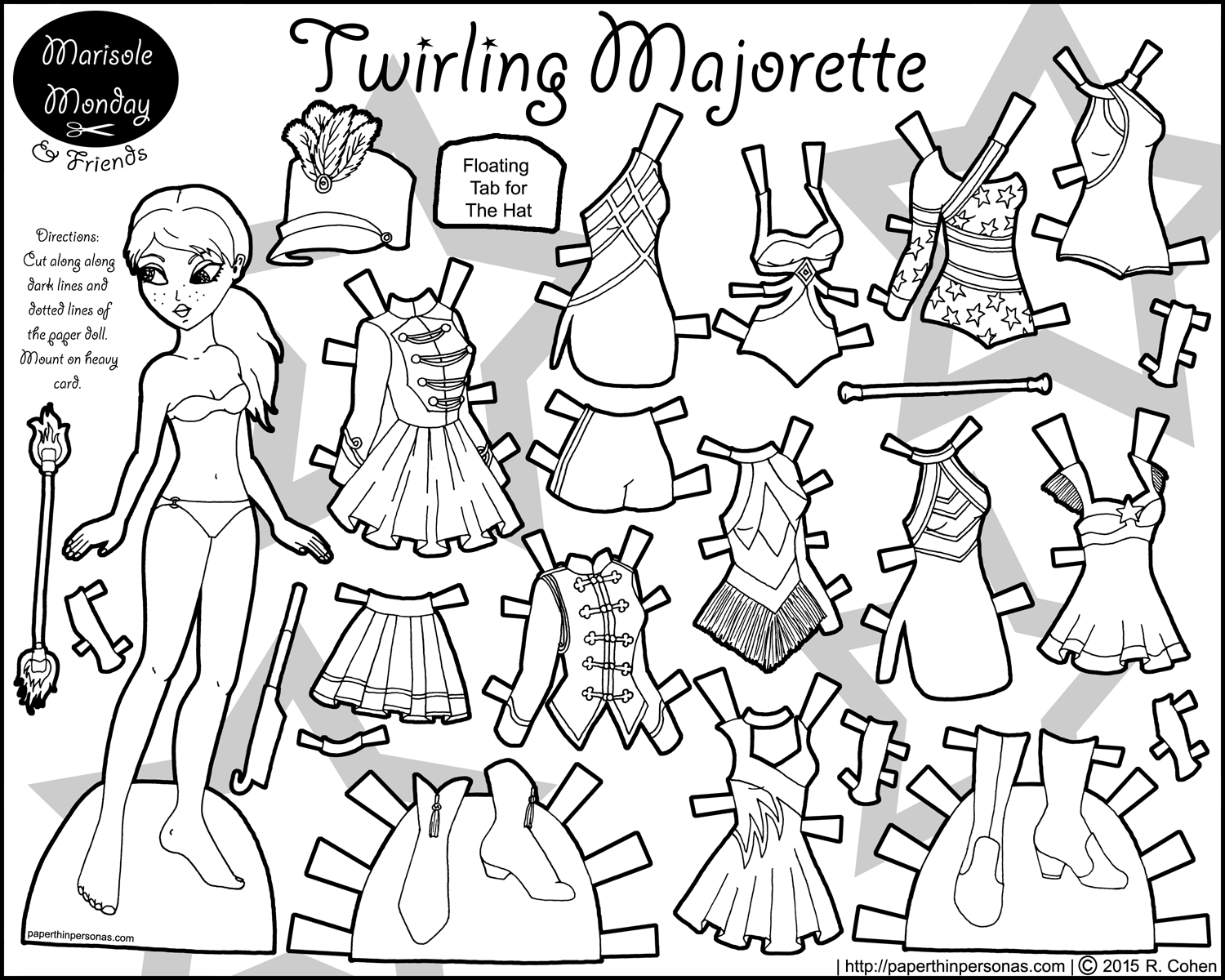 Fancy Marisole Monday Paper Doll Coloring Pages Images - Example ...